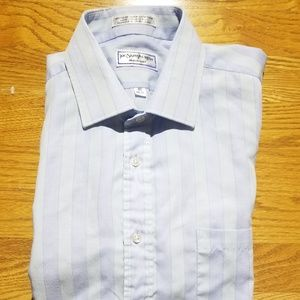 Vintage Yves Saint Laurent Tan Striped Dress Shirt